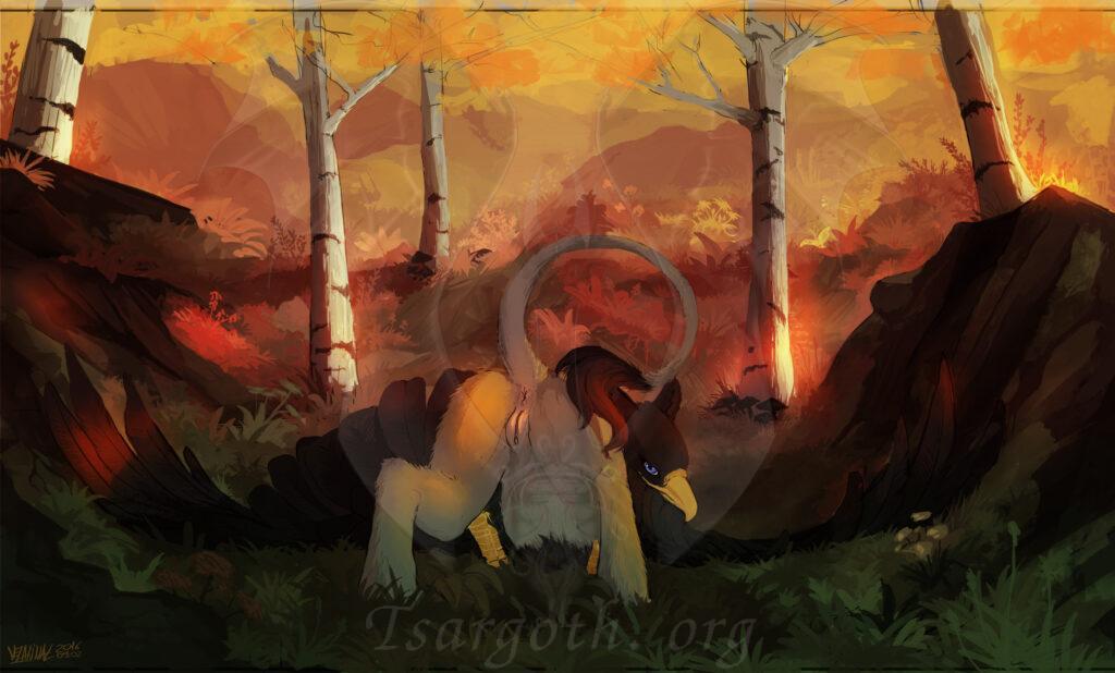 "Artwork by <a href=""https://www.furaffinity.net/user/velannal"">Velannal</a>"